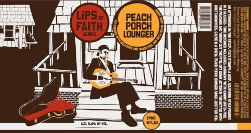 Peach Porch Lounger label